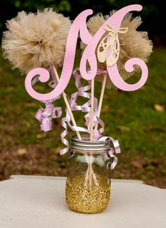 Ballerina Baby Shower Pink and Gold Baby Girl Centerpiece Table Decoration by GracesGardens on Etsy https://www.etsy.com/listing/217054900/ballerina-baby-shower-pink-and-gold-baby