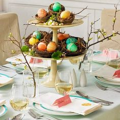 easy easter centerpieces and table settings shown tiered easter egg centerpiece