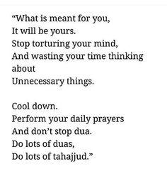 Stop torturing your mind by overthinking Trust Allah ! Allah Quotes, Imam Ali Quotes, Muslim Quotes, Quran Quotes, Religious Quotes, Faith Quotes, True Quotes, Motivational Quotes, Apj Quotes