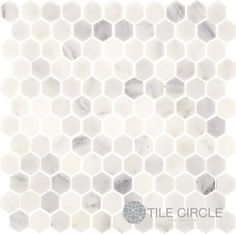 Free Shipping!  Shop the Marble White Hexagon Tile Collection available in polished and honed finishes.  Tile patterns for kitchen backsplashes and floor tiles.