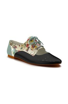 Shoes+of+Prey+Floral+Print+Cutout+Oxford+(Women)+available+at+#Nordstrom