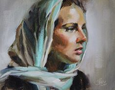 Study of Christina by Pamela Blaies in the FASO Daily Art Show