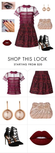 """""""Burgundy"""" by unpocoboho on Polyvore featuring RED Valentino, Alice + Olivia, Dyrberg/Kern, Steve Madden and Lime Crime"""