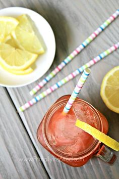 ACV DRINK - Berry Lemon Apple Cider Vinegar Drink Recipe from Primally Inspired