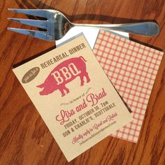 Hey, I found this really awesome Etsy listing at https://www.etsy.com/listing/181037963/rehearsal-dinner-bbq-invites-rustic