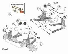 Jeep Wrangler YJ Suspension Parts Exploded View Diagram