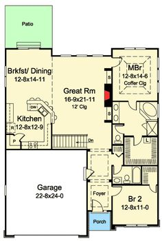 Adorable Two Bedroom Cottage - 57331HA | Architectural Designs - House Plans