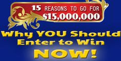 Can you tell us the 15 Reasons you'd like to WIN $15,000,000 this month from PCH?