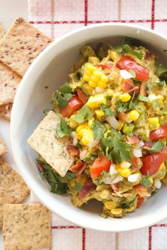 Father's Day Chipotle BLT Dip with Fresh Corn | reluctantentertainer.com