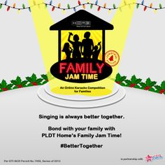 This Christmas season, show off your family's talent in singing. Join PLDT Home's Family Jam Time and get to win awesome prizes!  #BetterTogether
