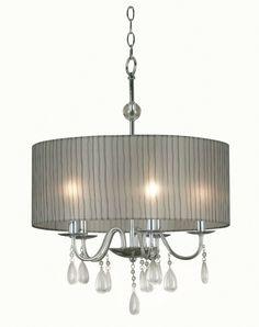 Kenroy Home Arpeggio 5 Light Pendant, Silver