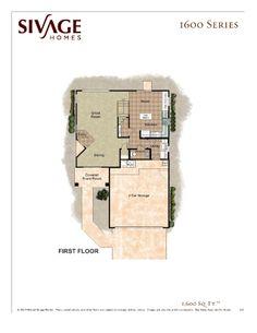 Sivage Homes 1600 Floor Plan