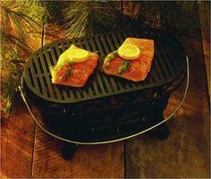 Lodge Logic L410 Pre-Seasoned Sportsman's Charcoal Grill: Amazon.com: Kitchen & Dining