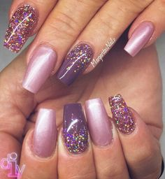 Purple glitter nails pinteres fall nail design by margaritasnailz from nail art gallery pepino nail art design dimagio prinsesfo Image collections