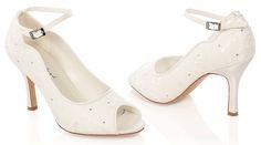 #LosZapatosdetuBoda #GWesterleigh  Zapatos de Novia Peep Toe inspiración Vintage modelo Michelle de G. Westerleigh