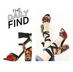 """""""The Daily Find: Topshop Sandals"""" by polyvore-editorial ❤ liked on Polyvore featuring Topshop and DailyFind"""