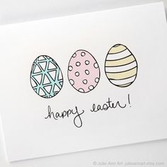 Easter Card. Easter Egg Card. Happy Easter Card.. $4.00, via Etsy.
