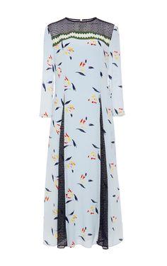 Silk Painted Tulip Godet Dress  by Suno Now Available on Moda Operandi