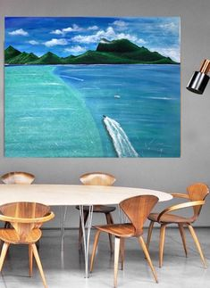 Excited to share the latest addition to my #etsy shop: Handmade landscape two oceans meet acrylic painting art wall hangings room decor #bedroom #artdeco #landscapescenery #stretchedcanvas #vertical #modern #original #unframed #handmade Hanging Wall Art, Wall Hangings, Acrylic Painting Canvas, Painting Art, Seascape Paintings, Ocean Art, Oceans, Poster Prints, Art Deco