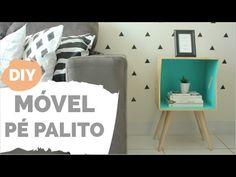 DIY   Mesinha lateral com pé palito   Por GavetaMix - YouTube