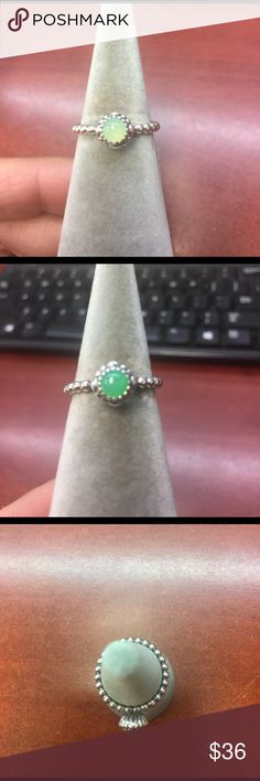 Pandora ring Brand new pandora ring birthday blooms May, chrysoprase, Sterling silver, item # 190854ch .  *** all colors slightly differ, the size 7.5 is the 1st picture listed  & is very pale Pandora Jewelry Rings