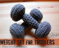 Amigurumi Weight Set for Toddlers - Tutorial ❥ 4U hilariafina  http://www.pinterest.com/hilariafina/