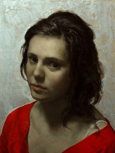 Cesar Santos Girl in Red