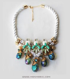 Rope Chunky Colorful Necklaces $24 Available at www.monmarie.com