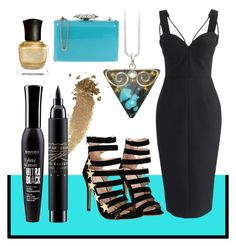 """""""Turquoise Temptress"""" by avagoldworks ❤ liked on Polyvore featuring Chicwish, Gucci, Chiara P, Bourjois, MAC Cosmetics, Deborah Lippmann and avagoldworks"""