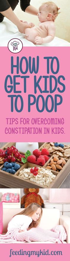 This is a must pin! From baby constipation to toddler constipation, you'll learn how to get your kids to poop. Feeding My Kid is a website for parents, filled with all the information you need about how to raise your kids, from healthy tips to nutritious recipes. #constipation #kidshealth #pregnancyandconstipation,