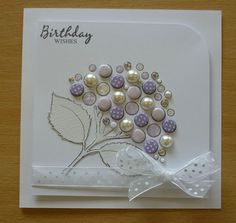 a36 Birthday Wishes, Birthday Cards, Craftwork Cards, Candy Cards, Dandelions, Blank Cards, Hobbies And Crafts, Homemade Cards, Hydrangea