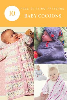 Adorable Baby Cocoons: 10 Free Knitting Patterns
