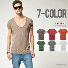 Escote Redondo Simple #Moda #Estilo #Camiseta Sólida con Mangas Cortas