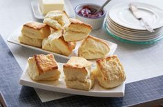 These cream scones are simple but divine, and although they sound utterly rich, they don't contain butter and eggs, like most scones do.