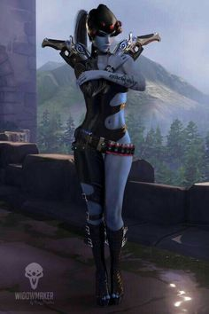 Overwatch Widowmaker, Fatale Overwatch, Overwatch Comic, Overwatch Memes, Overwatch Fan Art, Female Character Design, Game Character, Fantasy Characters, Female Characters