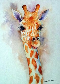 Water Colour Giraffe