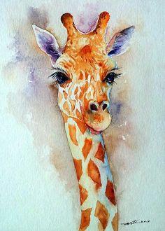 Water Colour Giraffe