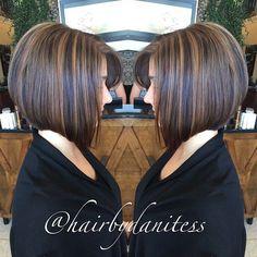 PRECISION | A-LINE #hairbydanitess #hairbybocci #precisioncutting #alinebob #tigimasterbrand