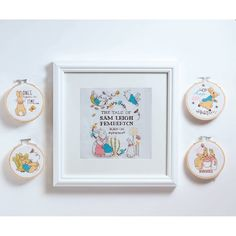 Peter Rabbit Mini Cross Stitch Nursery Sampler | Hobbycraft