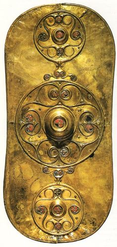 Beautiful Iron Age metalwork !    The Battersea Shield. Found near Chelsea Bridge, London in 1857 and probably dating from between the 1st century BC and 1st century AD, it is decorated in the Celtic La Tene tyle.