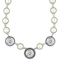 Pearl Necklace 3 Snap Ginger Snaps