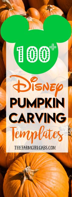 Happy Fall! Carve up some Disney magic this Halloween with one or more of these 100+ Disney Pumpkin Carving Ideas. How cute will your pumpkin look with one of these Disney, Star Wars or Marvel Characters??!!