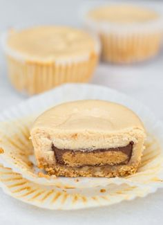 Reese's Stuffed Mini Peanut Butter Cheesecakes