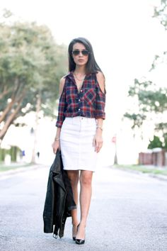 Blogger @Hanh Nguyen Nguyen shows us how she styled this Charlotte Russe plaid shirt! See more style tips on her blog: thehanhsolo.com! #CRfashionista