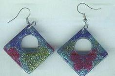 Geometric Sparkly Giltter Earrings $6.99