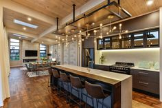 Lockwood Taupo Acacia Show home kitchen Home Kitchens, Gallery, Modern, Table, Homes, Interiors, Furniture, Home Decor, Ideas