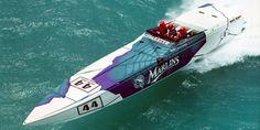 Florida Marlins cigarette boat