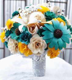 17 Ideas Wedding Colors Teal Silver Flower For 2019 – bouquetofsunflowers Teal And Grey Wedding, Neutral Wedding Flowers, Vintage Wedding Flowers, Cheap Wedding Flowers, Winter Wedding Flowers, Flower Bouquet Wedding, Wedding Colors, Wedding Ideas, Wedding Stuff