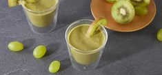 Smoothie με σπανάκι, σταφύλι και ακτινίδιο   Go Greece Kiwi, Yogurt, Smoothie, Recipes, Smoothies, Ripped Recipes, Cooking Recipes