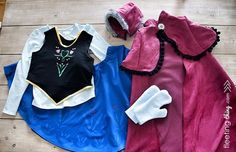 PATTERN & TUTORIAL for Anna Cape, Anna Vest, and Anna Hat!!!  fleetingthing » Frozen Anna winter costume (free pattern and tutorial + stencils)